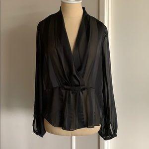 ASOS Black Semi Sheer Blouse size 4 Small